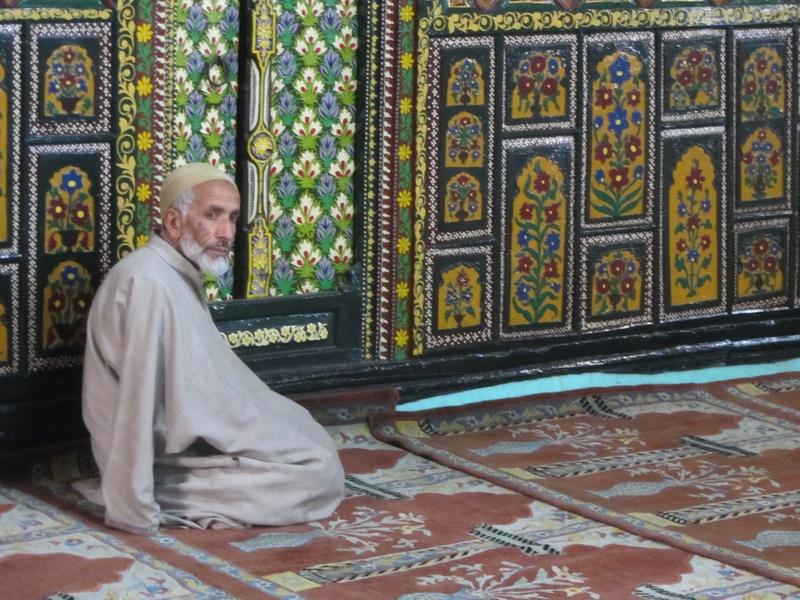 old man praying in Shah Hamadan
