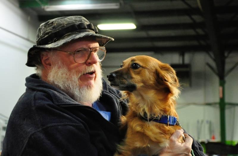 Glenn and Katie at Denver Dog Sports, Jan 2014