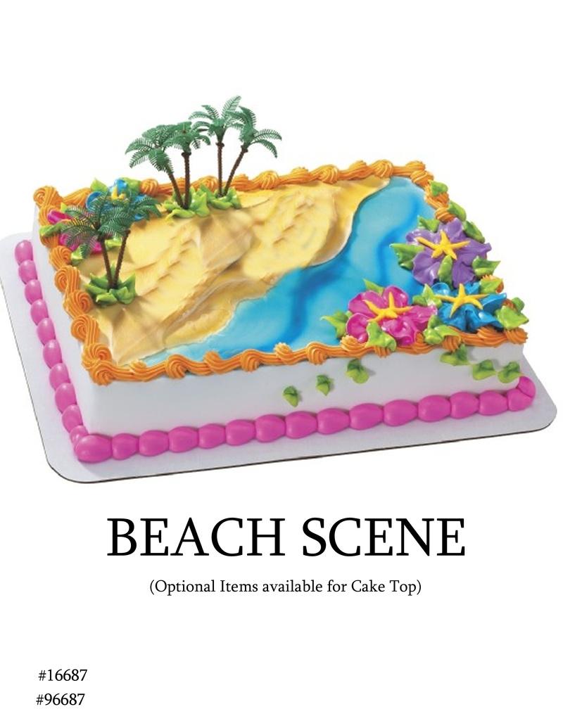 Cake Decorating Garden Scene : Beach Scene 1