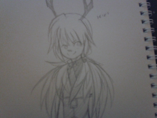 lazily drawn blurry 14 yr old mai