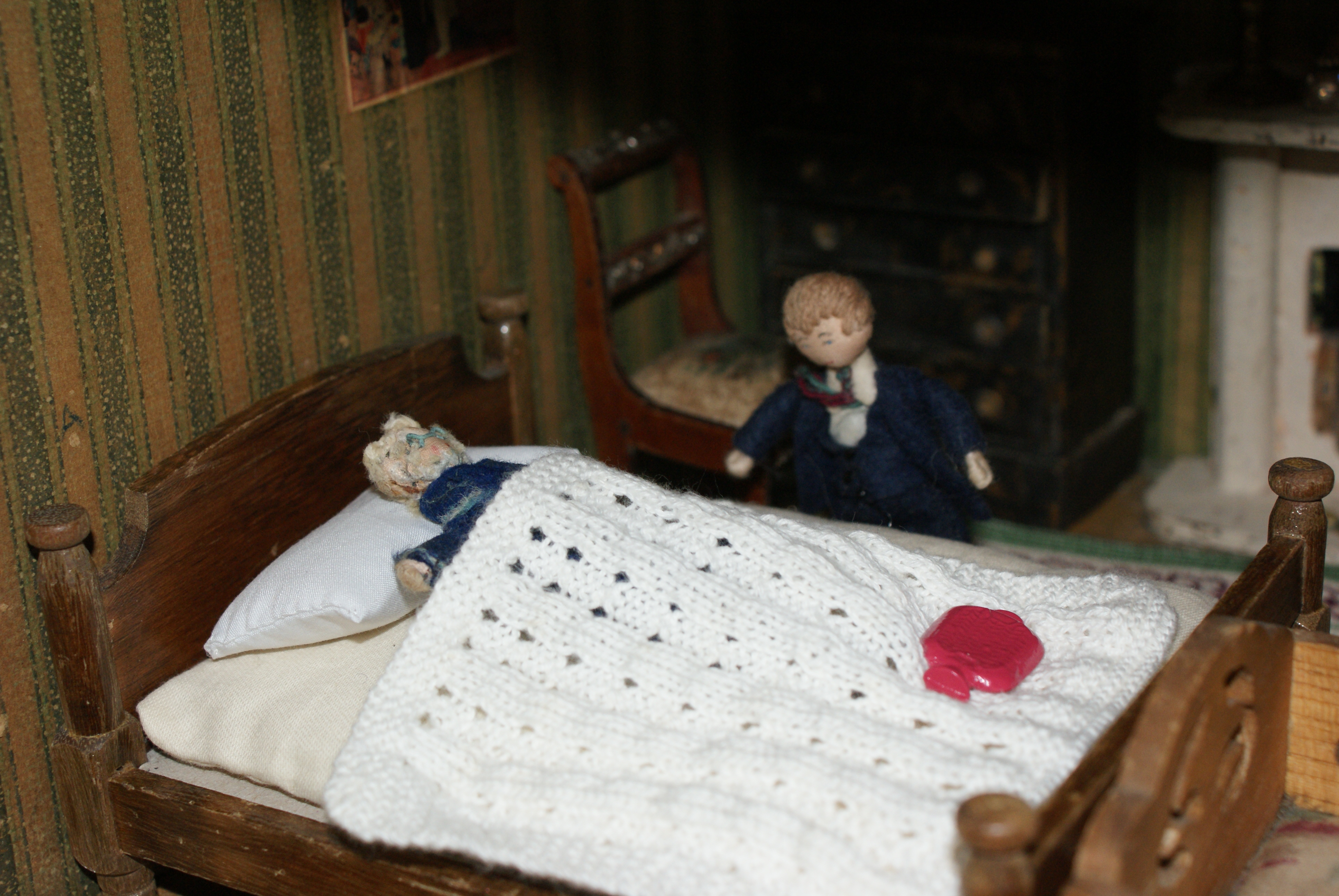 George approached the bed cautiously