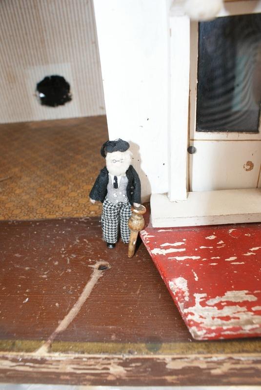 The prof. shows off his door peg.