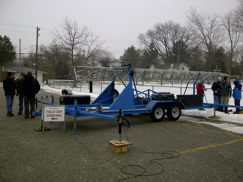 Setting Up For 2015 Winter Field Day
