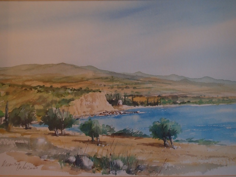 Melanda Bay - Michael Owen Watercolour