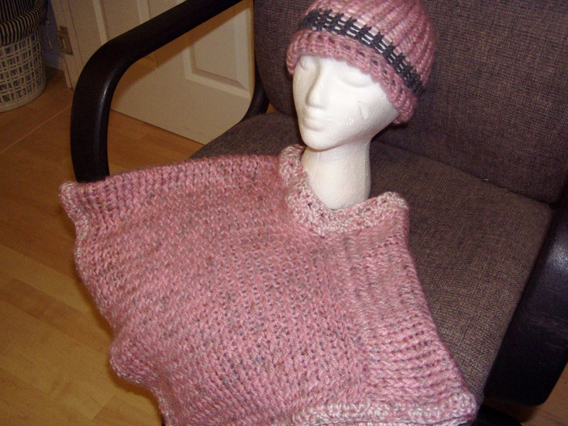 Poncho and hat set