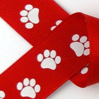 Red w/white Paws