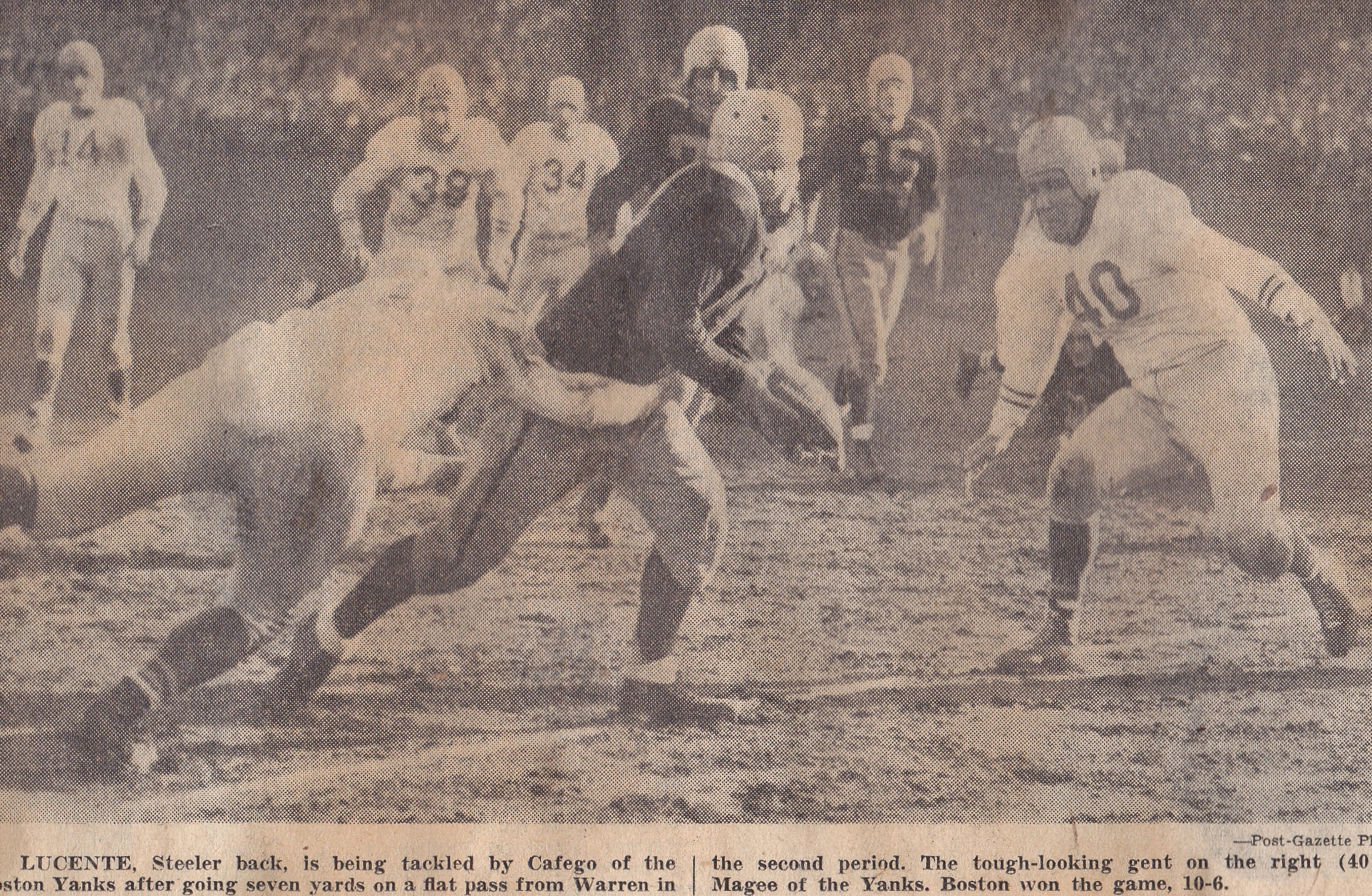 1945 Steelers vs Boston Yanks
