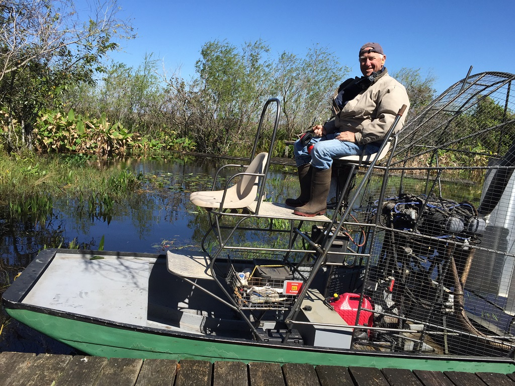Yale on Billie's Airboat