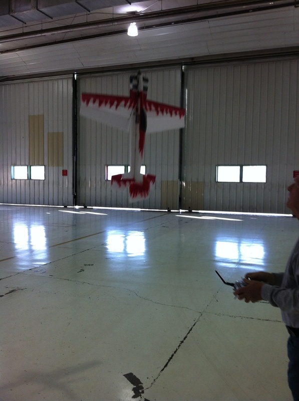 Flying at a NLV hanger