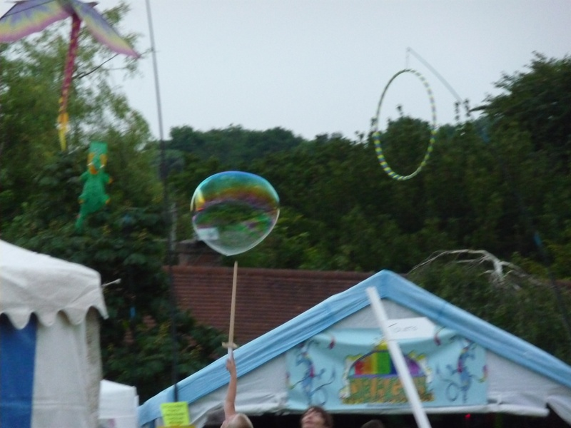 Bubble shooting hoop?