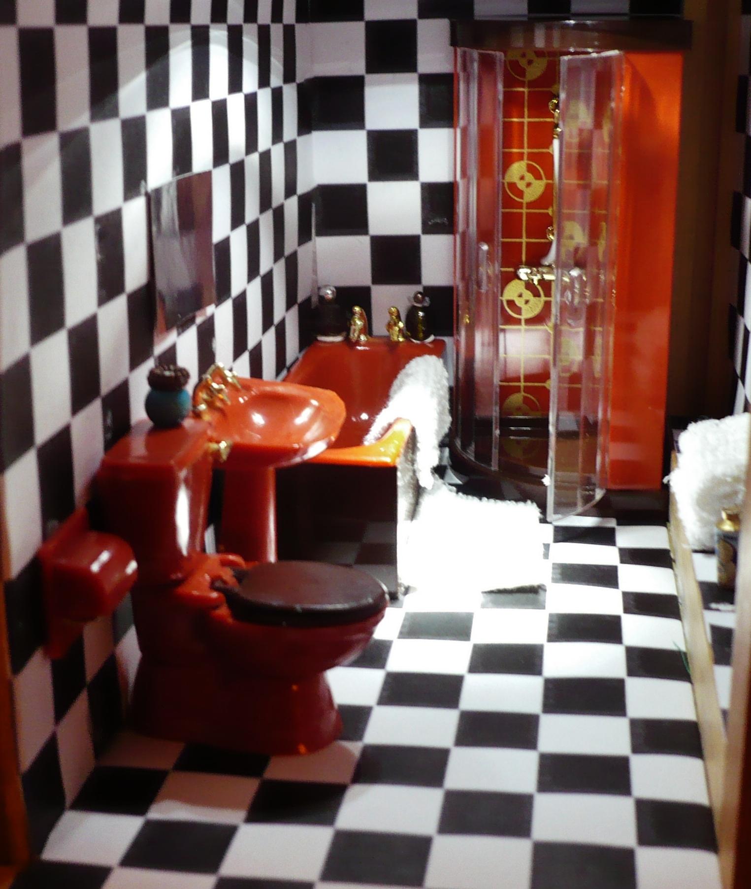Shower room now has a bath