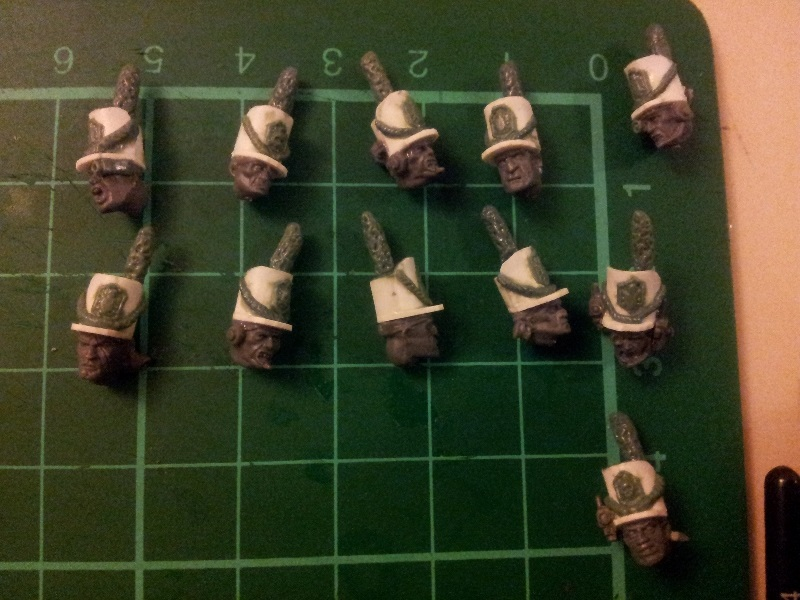 Napoleonic Imperial Guard Artillery heads WIP