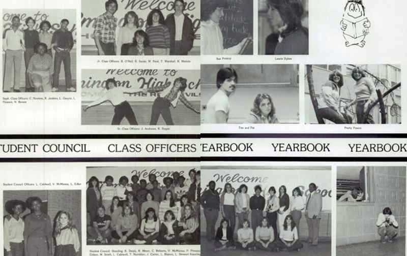 1982, Student Council, Class officers and Yearbook