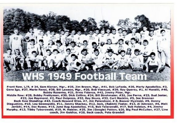 1949, WHS football team
