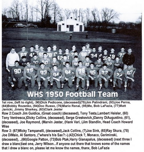 1950, WHS football team