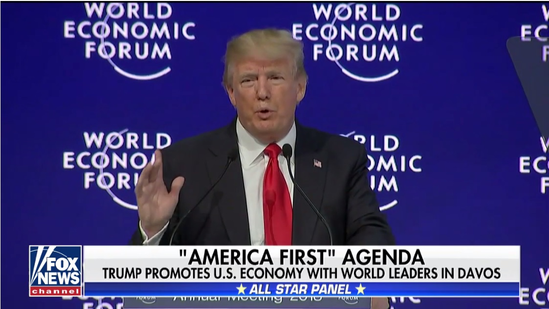 Trump promotes US economy with world leaders in Davos