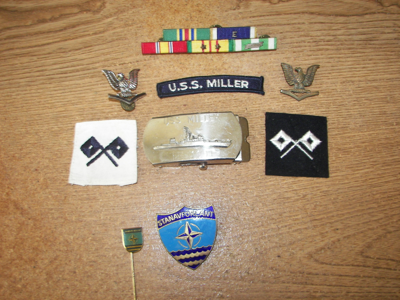 Personal Items from my USS Miller tour of duty