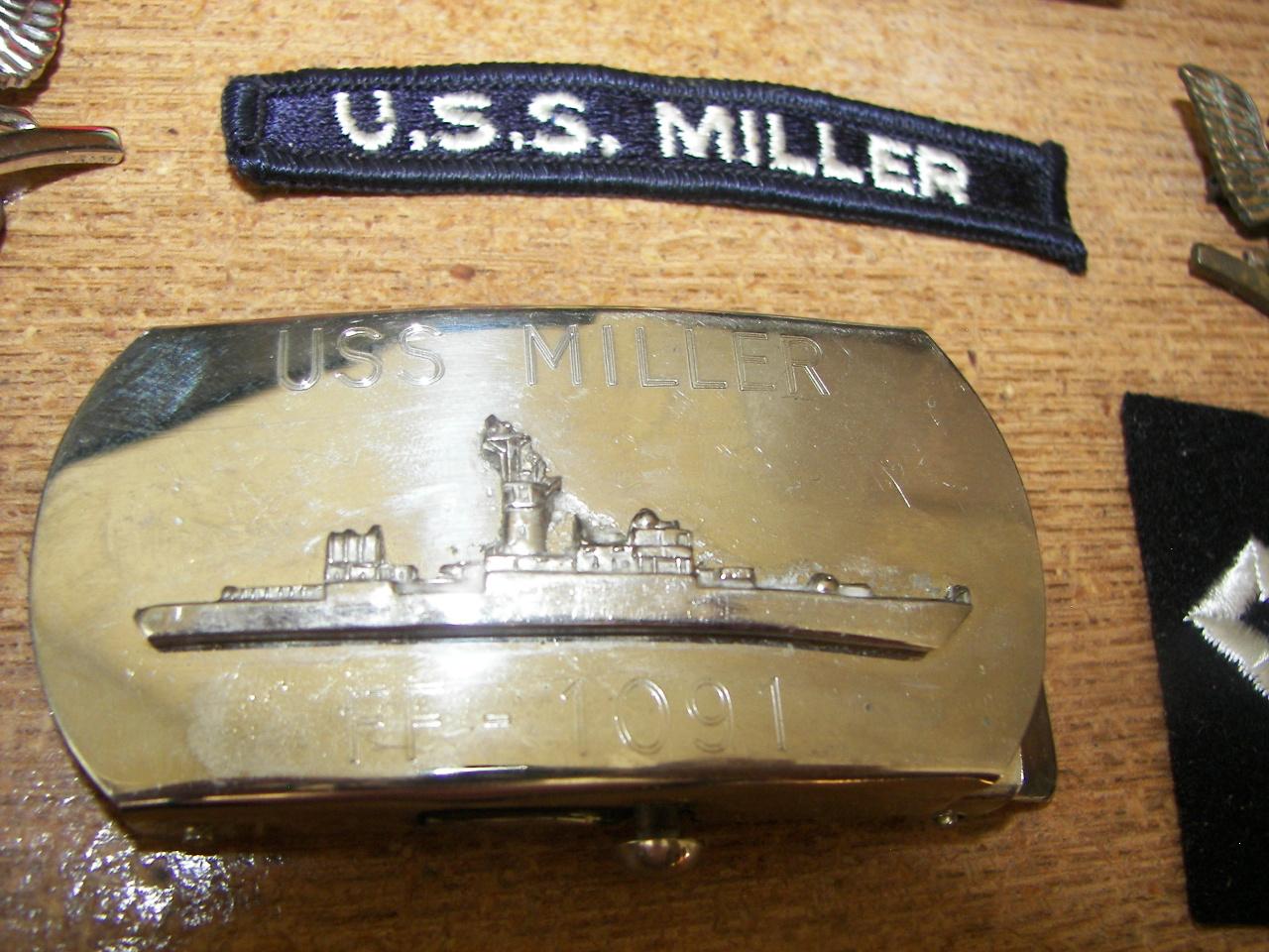 Shoulder patch and Belt buckel for USS Miller 1091