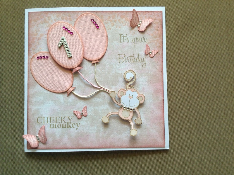 Miss Laceys 1st Birthday Card