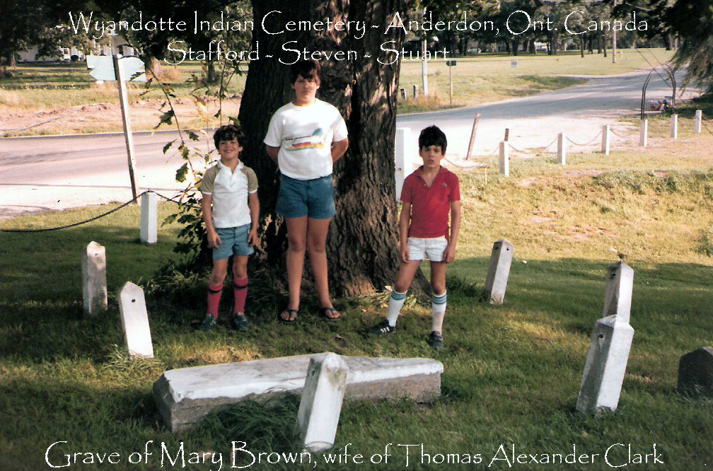 Mary Brown Grave w/my sons
