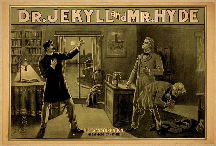 Dr. Jekyll and Mr. Hyde by Robert Louis Stevenson, 1886.