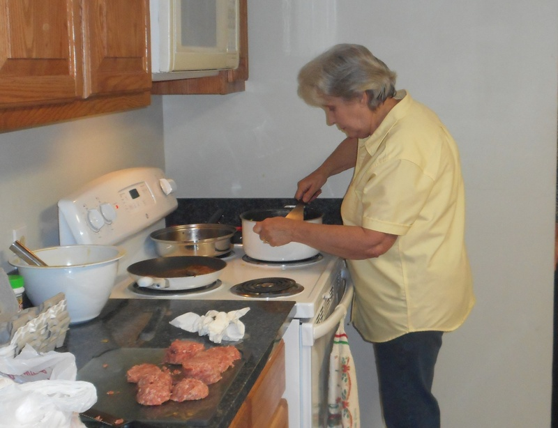 Sharon White on scrambled egg duty, Thanks!