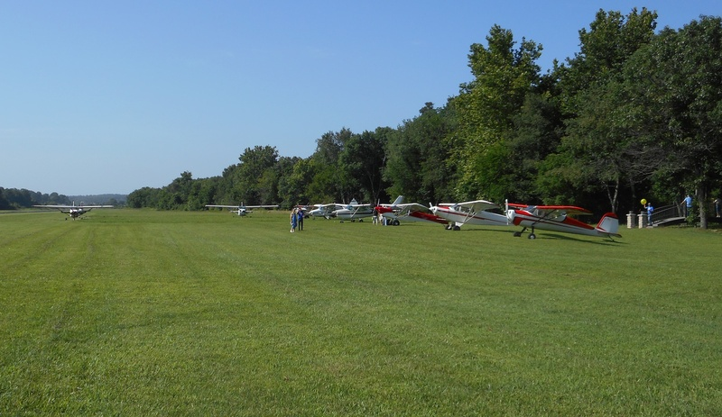 Parking area with planes