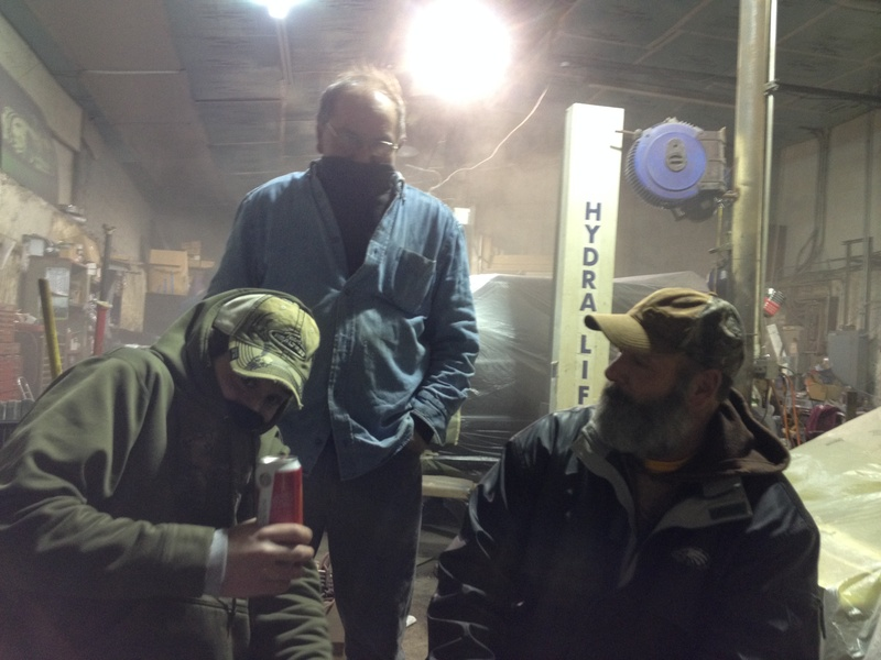 the crew on a cold night suckin some suds